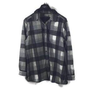 Pendleton XL Wool Board Shirt Gray Black